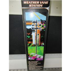 "New 56"" tall Weather Vane Station / 5 function / rain gauge , thermometer"