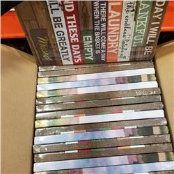 BOX OF ASSORTED NEW CANVAS PRINTS