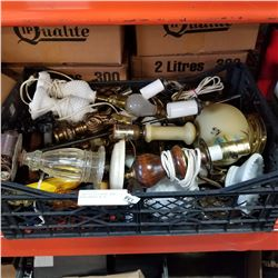 LARGE LOT OF VINTAGE LAMPS - NEEDS REPAIR/ AS IS