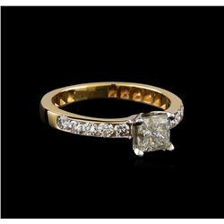 1.08 ctw Diamond Ring - 14KT Yellow Gold