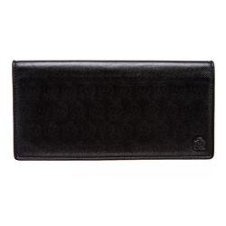 Dunhill Black Leather Bi-Fold Long Wallet