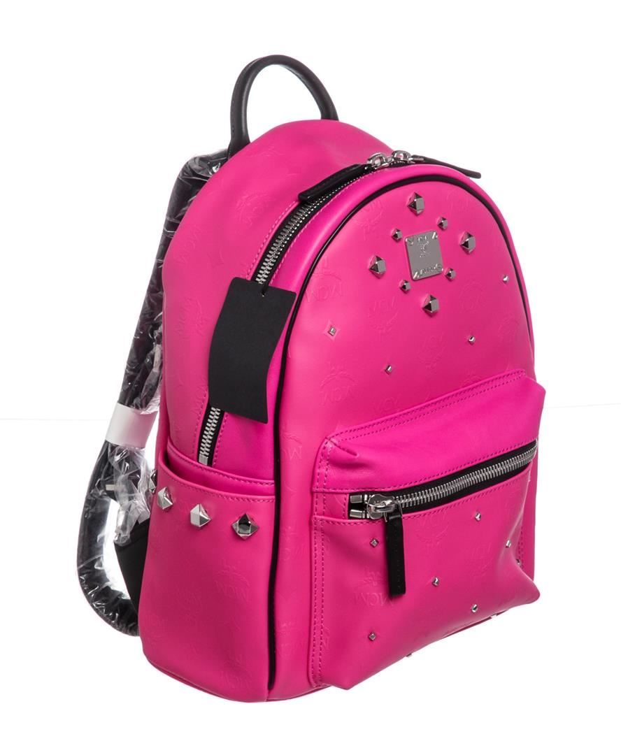 4cf0c0511152d Image 1 : MCM Beet Root Pink Small Coated Canvas Stark Odeon Backpack ...