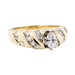 0.93 ctw Diamond Ring - 14KT Yellow Gold