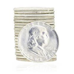 1961 Roll Franklin Half Dollars
