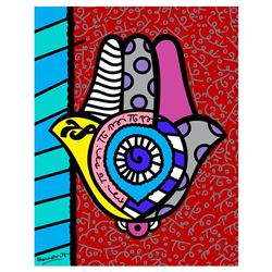 Hamsa Red Up by Britto, Romero