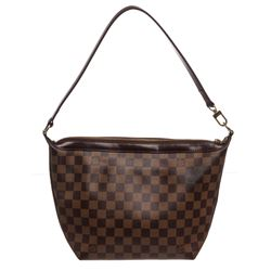 Louis Vuitton Damier Ebene Canvas Leather Illovo PM Bag