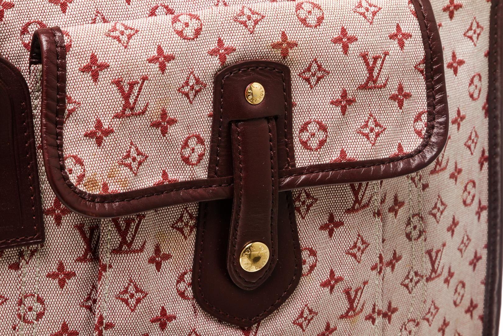 c41063d0 Louis Vuitton Burgundy Mini Monogram Canvas Leather Besace Mary Kate  Crossbody B