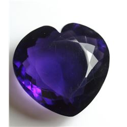 Purple Amethyst Heart 225 Carats