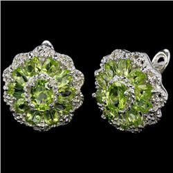 NATURAL AAA APPLE GREEN PERIDOT Earrings
