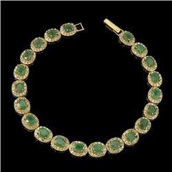 Natural Top Rich Green  Emerald Bracelet