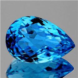 NATURAL SWISS BLUE TOPAZ  21.5x14 MM  [FLAWLESS]