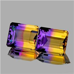 NATURAL PREMIUM ANAHI AMETRINE PAIR 24.32 Ct - FL