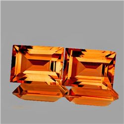 NATURAL BEST MADEIRA OARNGE CITRINE PAIR - FL