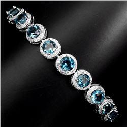 Natural Stunning London Blue Topaz Bracelet