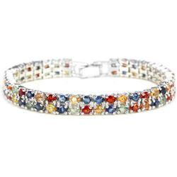 Natural MULTI COLOR  SAPPHIRE 146 Cts Bracelet