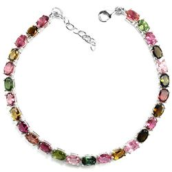 Natural Fancy Color Tourmaline Bracelet