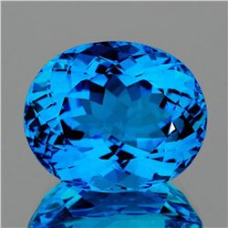 NATURAL AAA SWISS BLUE TOPAZ 100.15 Ct [FLAWLESS-VVS]