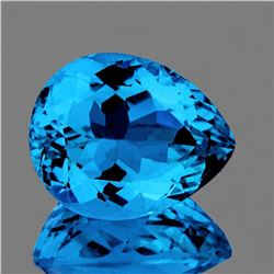 NATURAL SWISS BLUE TOPAZ 14x11 MM [FLAWLESS]