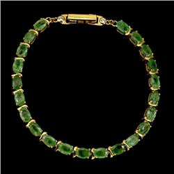 Natural Rich Green Emerald 61.35 Ct Bracelet