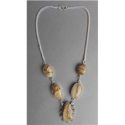 NO RESERVE-- 75.75 CT MOSAIC JASPER NECKLACE