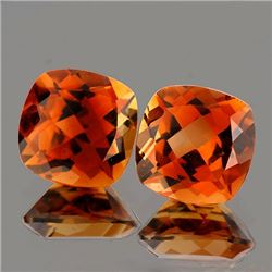 Natural AAA Champagne Imperial Topaz Pair 8 MM - FL