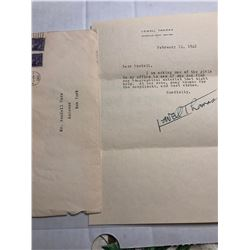 1942 Lowell Thomas Signed Letter with Original Envelope