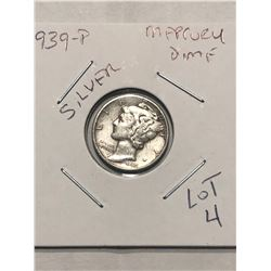 1939 P Mercury Silver Dime Nice Early US Silver Coin