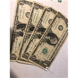 4 Total 1963 Joseph W Barr Bills assorted Grades