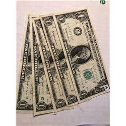 5 Total 1963 Joseph W Barr Bills assorted Grades