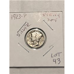 1923 P Mercury Silver Dime Nice Early US Silver Coin