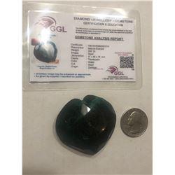 HUGE Investment 250 Carat Natural Emerald Certified GGL Heart Cut