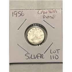 1956 Canada Silver Dime Nice Early Canadian Coin