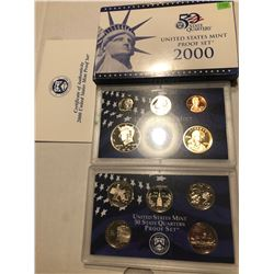 2000 Millienum US Proof Set in Original Box with Paperwork