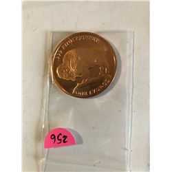 CHIEF BUFFALO 1oz Copper 999 Fine Copper Coin