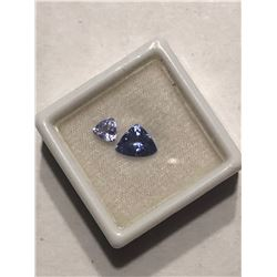 Extremely Rare Dark High Grade 1.25 and .50 Carat TANZANITE Gemstones