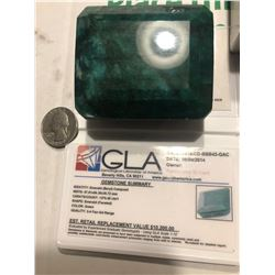 HUGE Rare Certified 1276.45 Carat Emerald Appraised at 10200