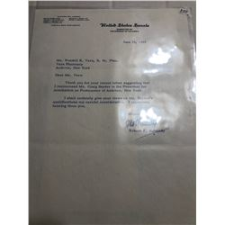 Rare 1965 Signed Robert F Kennedy Letter on US Senate Letterhead with Envelope
