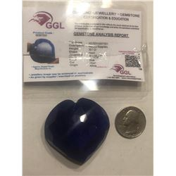 HUGE RARE Investment 307 Carat Natural Blue Sapphire Certified GGL Heart Cut