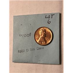 1960 D PROOF Small Date Lincoln Penny