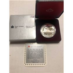 1986 Silver Railroad Canada Vancouver Dollar in Original Box with Card Royal Canadian Mint
