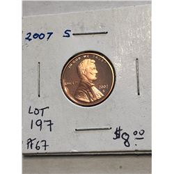 2007 S PROOF Lincoln Penny