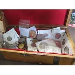 1 Pound Bag of Unsearched World Coins out of Estate Safe Assorted Dates-Countries & Metals