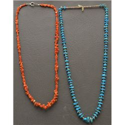 TWO PUEBLO INDIAN NECKLACES
