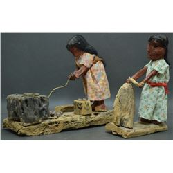 PAPAGO INDIAN FOLK ART FIGURES (CHEPA AND DOMINGO FRANCO)