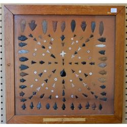 COLLECTION OF ANASAZI INDIAN ARROWHEADS AND BEADS