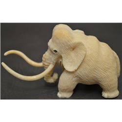 ESKIMO INDIAN  CARVED IVORY MAMMOTH