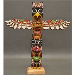 NORTHWEST COAST INDIAN TOTEM POLE