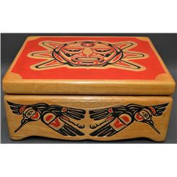 NORTHWEST COAST INDIAN LIDDED BOX