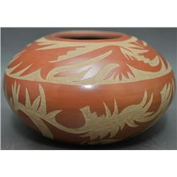 SANTA CLARA INDIAN POTTERY BOWL (CAMILLO TAFOYA · GRACE MEDICINE FLOWER)
