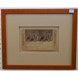 FRAMED ANTIQUE STEREOPTICON VIEW